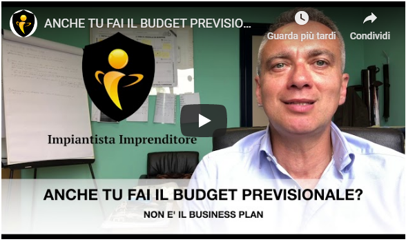 budget previsionale